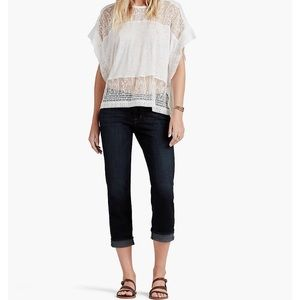 NWT Lucky Brand Sweet Crop Relaxed Fit Mid Rise 29